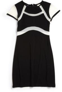 Un Deux Trois Girl's Illusion Dress