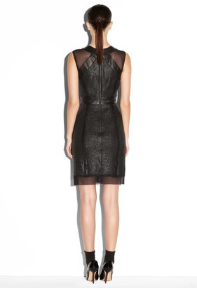 Milly Leather Inset Mesh Sheath