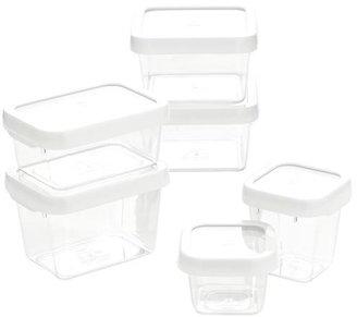 OXO White 12-Piece Locktop Container Set
