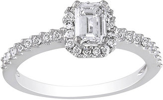 JCPenney FINE JEWELRY 3/4 CT. T.W. Emerald-Cut Diamond Bridal Ring 14K White Gold