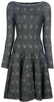 Alaia flared fitted dress