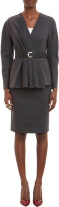 Fendi Pleated-Front Belted Jacket