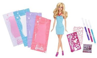 Barbie Fashion Design Plates Dress and Doll