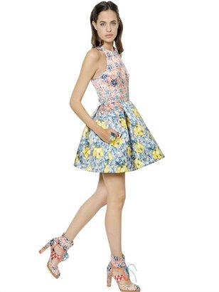 Mary Katrantzou Floral Printed Techno Duchesse Dress