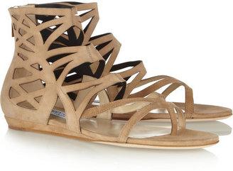 Jimmy Choo Vernie laser-cut suede sandals