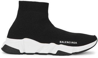 Balenciaga Speed Black Stretch-knit Sneakers