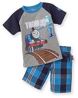"""Thomas & Friends Thomas Friends Boys' 2T-4T Blue 2-pc. """"Race the Rails"""" Shorts Set"""