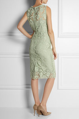 Dolce & Gabbana Cotton macramé lace dress