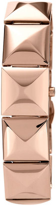 Vince Camuto Ladies' Rose Gold-Tone Pyramid Watch