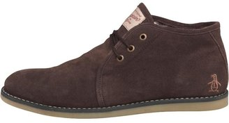 Original Penguin Mens Lawyer Suede Boots Brown