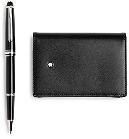 Montblanc Meisterstuck Classique Rollerball Pen & Business Card Case Gift Set