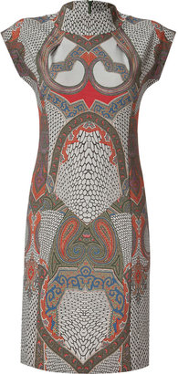 Etro Taupe/Red-Multi Dress