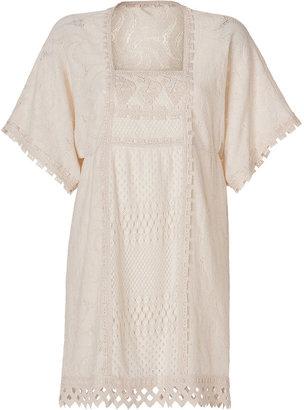 Anna Sui Pinwheel Lace Dress in Cream
