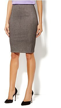 New York & Co. 7th Avenue Suiting Collection Pencil Skirt - Herringbone Print