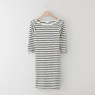 Edith A. Miller fitted striped knit dress