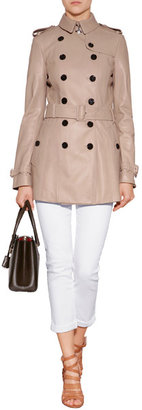 Burberry Leather Elsgate Trench Coat