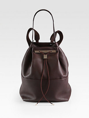 The Row Convertible Hobo Backpack/Pebbled Leather