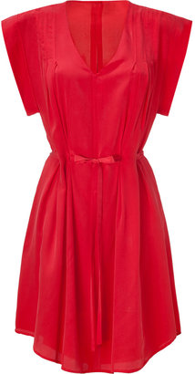 See by Chloe Chili Red Belted Silk Dress