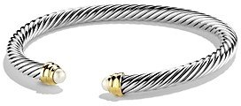 David Yurman Cable Classics Bracelet with Pearls and 14K Gold, 5mm