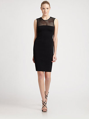 Emilio Pucci Mesh-Top Jersey Dress