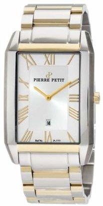 Pierre Petit Men's P-777D Serie Paris Rectangular Two-Tone Stainless-Steel Bracelet Date Watch