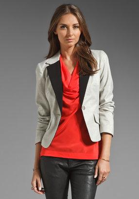 Trina Turk Shimmer Suiting Boxwood 2 Blazer