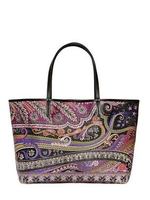Etro Calcutta Paisley Printed Tote Bag