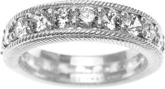 Judith Ripka Sterling Diamonique Eternity Ring