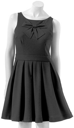 Lauren Conrad bow fit & flare ponte dress
