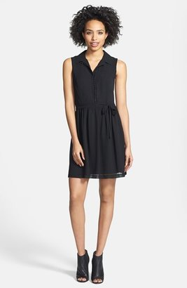 Women's Kensie Sleeveless Crepe Chiffon Shirtdress $89 thestylecure.com