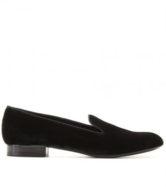 Saint Laurent Velvet Slippers