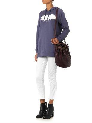 Zoe Karssen Bat-print hooded sweatshirt