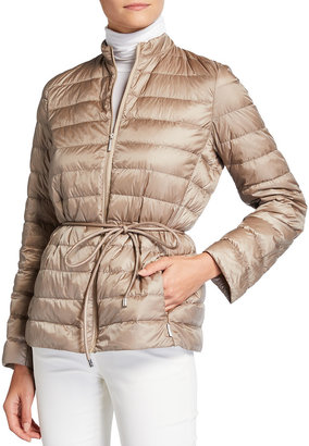 MAX MARA LEISURE Radente Zip Front Quilted Nylon Jacket