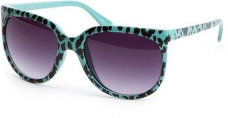 Charlotte Russe Turquoise Cheetah Sunglasses