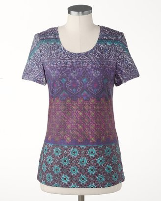 Coldwater Creek Stained glass tee
