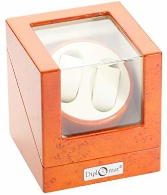 Off-White Diplomat Double Watch Winder with Leather Interior