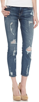 Current/Elliott Stiletto Skinny Jeans, Dark Shredded