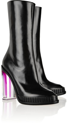 Maison Martin Margiela Plexiglass-heeled leather ankle boots