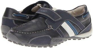 Geox Kids - Jr Snake Moc Boy 10 (Big Kid) (Navy/Avio) - Footwear