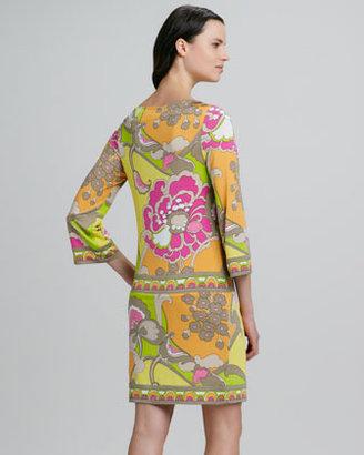 Trina Turk Dusk Floral-Print Shift Dress