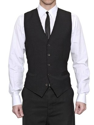 Dolce & Gabbana Wool And Silk Jacquard Vest