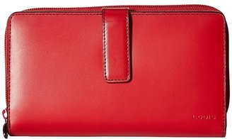 Lodis Audrey RFID Deluxe Checkbook Clutch (Red RFID) Checkbook Wallet