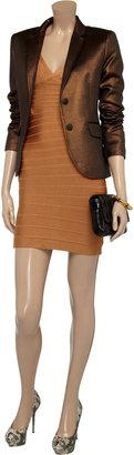 Herve Leger V-back bandage mini dress