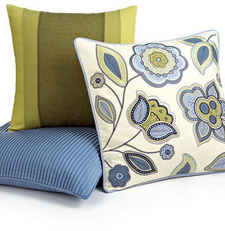 """Martha Stewart Collection Pillows, Pleated Solid 20"""" Square Decorative Pillow"""