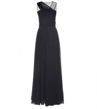 3.1 Phillip Lim ASYMMETRIC DRAPED GOWN WITH SHEER BACK
