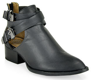 Jeffrey Campbell Everly - Bootie in Black Leather