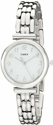 Timex Women's T2P2009J Elevated Classics Dress Silver-Tone Bracelet Watch $39.99 thestylecure.com