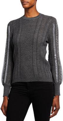 Kobi Halperin Gabbi Wool-Blend Pointelle Knit Sweater