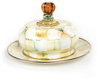 Mackenzie Childs MacKenzie-Childs Parchment Check Butter Dish