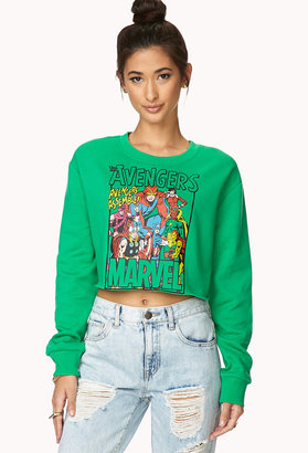 Forever 21 Cropped The Avengers Sweatshirt